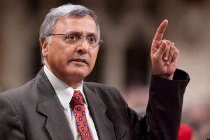 Ujjal Dosanjh gestures as he stands in the House of Commons during Question Period on Parliament Hill in Ottawa on April 20, 2010. Four former B.C. attorneys general, including Dosanjh,  are calling for the legalization of marijuana, saying the current ban on pot is only fuelling gang violence and clogging the courts, but they're not getting any support from the province's current premier. THE CANADIAN PRESS/Pawel Dwulit